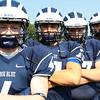 Swampscott: From left, Swampscott High School senior football captains, Ben Faulkner, Brendan McDonald, Justin Nestor, and Toby Hale. David Le/Salem News