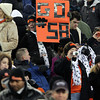 "A Beverly Panther fan holds up a ""Go #58"" sign in the crowd at Gillette Stadium in Foxborough on Saturday evening as Beverly captured their second Super Bowl title in three years with a 28-21 win over Natick. David Le/Staff Photo"