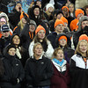 Beverly Panther fans that filled the stands at Gillette Stadium hold their collective breaths during the final possession of the game on Saturday evening. The Panthers took down the Red Hawks of Natick, 28-21, to capture the school's second Super Bowl title in three years. David Le/Staff Photo