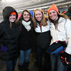 From left, Beverly High School fans MaryCate Flaherty, Natalie Shea, Katie Wheatley, and Alexa McNamara, witnessed the Panthers defeat the Natick Red Hawks 28-21 on Saturday evening at Gillette Stadium in Foxborough to win the D2A Super Bowl. David Le/Staff Photo