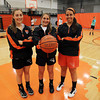 From left, Beverly High School Senior captains Abby Carnevale, Jill Stirrat, and Andrea Zelano, look to lead the Panthers in the winter season. David Le/Staff Photo