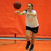 Beverly senior captain Abby Carnevale makes an outlet pass at practice on Friday afternoon. David Le/Staff Photo