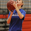 Beverly junior Bridget Keaton goes up for a layup at practice on Friday evening. David Le/Staff Photo