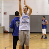 Danvers senior point guard Eric Martin takes jump shots at practice on Wednesday evening. David Le/Staff Photo