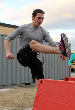North Shore Tech/Essex Aggie junior Doug Wilson practices for high hurdles during practice on Wednesday. David Le/Staff Photo