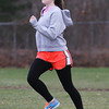 North Shore Tech/Essex Aggie freshman Kaylyn Countie does striders at practice on Wednesday afternoon. David Le/Staff Photo