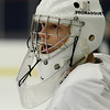 Salem junior captain and starting goalie Brett Herring cheers on his teammates at practice. Herring looks to lead the Witches in the 2012-2013 campaign. David Le/Staff Photo