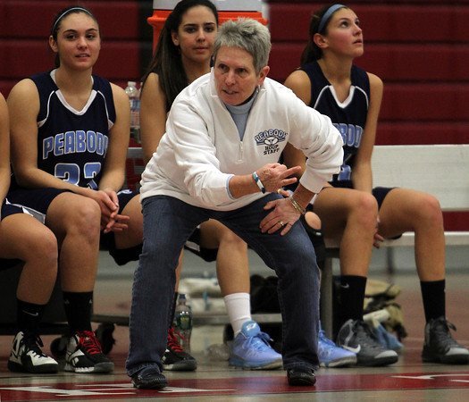 Head Coach of the Peabody Girls Basketball team Jane Heil. David Le/Staff Photo