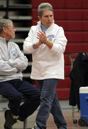 Head Coach of the Peabody Girls Basketball team Jane Heil. David Le/Staff Photo