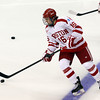 Boston: Boston University freshman winger Sam Kurker warms up prior to the start of the Terriers Beanpot game against Northeastern on Monday afternoon. David Le/Salem News