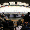 Salem: Fisheye view of the O'Keefe Center at Salem State during Beverly vs. Marblehead Boy's Hockey warm-ups  on Friday evening. David Le/Salem News
