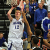 Danvers: Danvers High School junior Kieran Beck rises up and takes a jumper against Greater Lawrence on Wednesday evening. David Le/Salem News