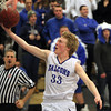 Danvers: Danvers senior guard Jake Cawlina glides in for an easy layup against Greater Lawrence on Wednesday evening. David Le/Salem News