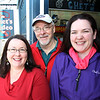 Marblehead: Chet Strout, center, owner of Chet's Video and Candy Shoppe, with his wife Carrie Thomas, left, and daughter Melissa Strout, right, have been in business for 20 years. Chet's Video is the only video store left on the North Shore. David Le/Salem News