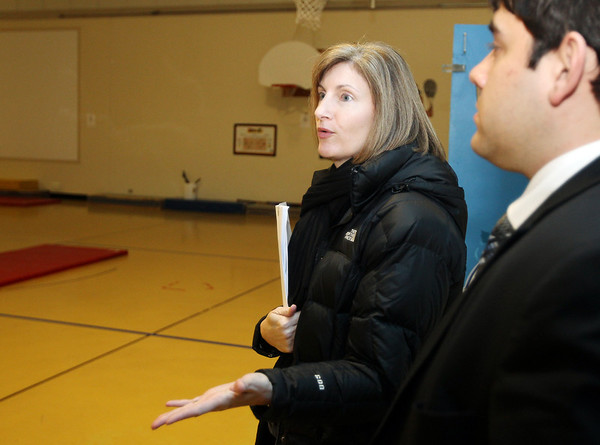 Danvers: Danvers Superintendent of Schools Dr. Lisa Dana talks about some of the renovations needed to be done at the Smith School in Danvers. David Le/Salem News