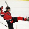 Salem: Marblehead freshman forward Matt Koopman pumps his fist in the air celebrating his second period goal on Wednesday evening against Swampscott. David Le/Salem News