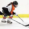 Woburn: Beverly freshman forward Kristen McCarthy carries the puck against Arlington Catholic on Wednesday evening. David Le/Salem News