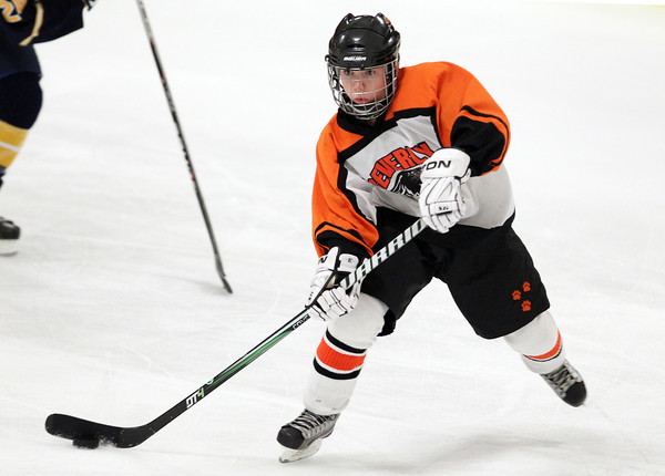 Woburn: Beverly junior winger Nicole Woods fires a shot on net against Arlington Catholic on Wednesday evening in the D1 State Quarterfinal. David Le/Salem News