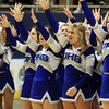 Worcester: The Danvers High School cheerleaders give one more cheer for the Falcons as they leave the court as back-to-back D3 State Champions on Saturday afternoon. David Le/Salem News