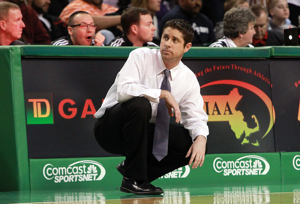 Boston: Danvers Head Coach John Walsh looks on from the sidelines during the D3 State Semi-Final on Tuesday afternoon at the TD Garden in Boston. David Le/Salem News