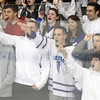 North Billerica: The Danvers High School fan section taunt the Concord-Carlisle fans as time ticks down in the third period of play, with the Falcons up 5-3. David Le/Salem News
