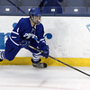 Lowell: Danvers junior forward Matt Flynn controls the puck against Wilmington on Monday evening. David Le/Salem News