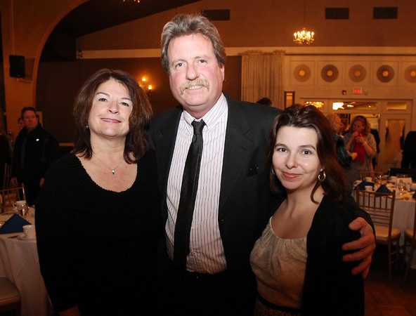 Danvers: From left, Debbie Pollina, Brian White, and Cynthia DaSilva, at the 8th Annual Hall of Honor ceremony of the Danvers Educational Enrichment Partnership held at the Danversport Yacht Club on Thursday evening. David Le/Salem News