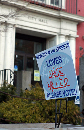 Beverly: Beverly Main Streets have put up signs in support of Angie Miller who is a top contestant on this season of American Idol. David Le/Salem News