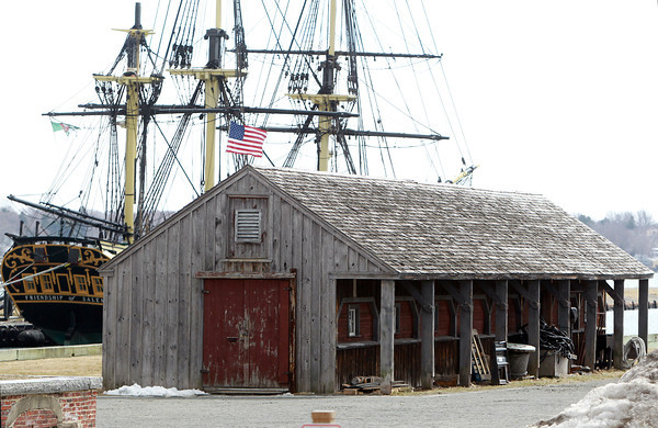 """Salem: There have been some preliminary plans to remove the """"Non-Historic Rigging Shed,"""" which sits next to the Friendship in downtown Salem, this summer, however, a few Facebook groups have sprung up to put a stop to the removal. David Le/Salem News"""