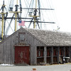 "Salem: There have been some preliminary plans to remove the ""Non-Historic Rigging Shed,"" which sits next to the Friendship in downtown Salem, this summer, however, a few Facebook groups have sprung up to put a stop to the removal. David Le/Salem News"