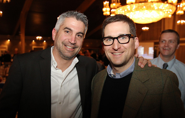 Danvers: Jeff Avigian, left, and and Tom Sangermano, at the 8th Annual Hall of Honor ceremony of the Danvers Educational Enrichment Partnership held at the Danversport Yacht Club on Thursday evening. David Le/Salem News