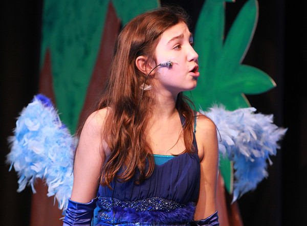 Salem: Nathaniel Bowditch 6th grader Adrianna Dahlgren rehearses a number from the musical Seussical. Seussical will be held March 14th & 15th at 6:30 pm, and March 16th at 12:30 pm at the Nathaniel Bowditch School. David Le/Salem News