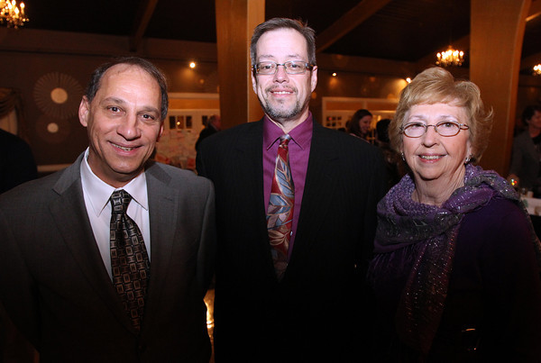 Danvers: From left, Bill Menezes, Gardner Trask, and Priscilla Curda, at the 8th Annual Hall of Honor ceremony of the Danvers Educational Enrichment Partnership held at the Danversport Yacht Club on Thursday evening. David Le/Salem News