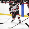 Stoneham: Marblehead senior defenseman Nick Perry takes a slap shot on net against Rockport during the second period of play on Saturday evening. David Le/Salem News