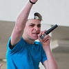 "Salem: Salem High School sophomore Kyle Doherty beat boxes during WitchPitch?'s version of ""Take Me Out/Paralyzer"" in preparation for an acappella competition in New York. David Le/Salem News"