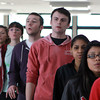 Salem: Members of Salem High School's a cappella group, WitchPitch? rehearse on Friday afternoon. David Le/Salem News