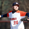 Salem: Salem State University senior Ryan Sharp delivers a pitch against Suffolk on Wednesday afternoon. David Le/Salem News
