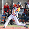 Salem: Salem State senior Steve Buitkus makes contact against Suffolk on Wednesday afternoon. David Le/Salem News