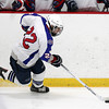 Stoneham: Swampscott sophomore Ryan Cresta carries the puck up-ice against Bedford on Saturday afternoon. David Le/Salem News