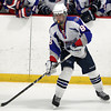 Stoneham: Swampscott junior forward Griffin Hunt dangles with the puck in the offensive zone against Bedford in the D3 North Finals. David Le/Salem News