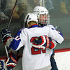 Stoneham: Swampscott junior forward Joey Silva, right, celebrates his goal with freshman teammate Devon Wall, left, on Saturday afternoon. David Le/Salem News