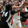 Topsfield: Masco junior Nicole Femino looks to pass against Cambridge on Wednesday evening. David Le/Salem News