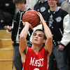 Hamilton: Masco senior Brian Reardon lines up a three-point shot against Hamilton-Wenham on Tuesday evening. David Le/Salem News