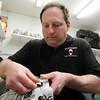 Middleton: Dom Malerba, of Middleton, makes goalie masks for numerous NHL players. David Le/Salem News