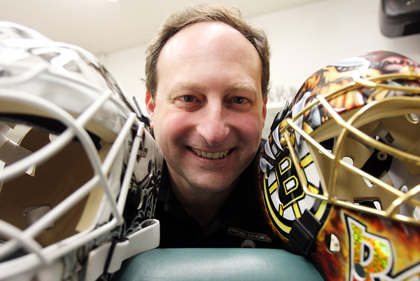 Middleton: Dom Malerba, of Middleton, makes goalie masks for numerous NHL players. David Le/Salem News