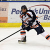 Salem: Peabody native and Salem State University freshman forward Andrew Bucci controls the puck on a Viking powerplay against UMass Dartmouth. David Le/Salem News