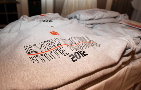 Danvers: Beverly Football State Championship sweatshirts. David Le/The Salem News