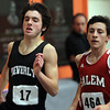 Beverly sophomore Alex Greco, left, passes Salem sophomore Alesir Kanani, during the 1000 on Thursday afternoon. David Le/Staff Photo