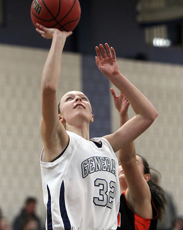 Hamilton: Hamilton-Wenham junior guard Catherine Ecker glides in for an easy layup against Ipswich on Friday evening. David Le/Salem News