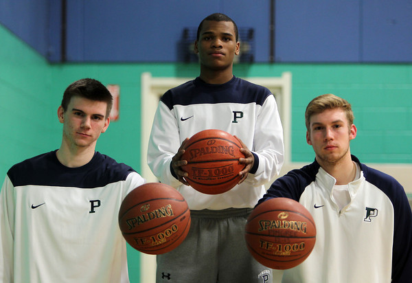 Hamilton: Pingree junior captains Connor Reardon, John Spears, and Kyle Lentini, have led the Highlanders in the 2012-2013 campaign. David Le/The Salem News